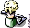 razor with shaving cream brush Vector Clip Art picture