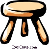Vector Clip Art graphic  of a stool
