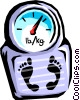 Vector Clip Art graphic  of a weight scale