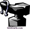 Vector Clipart graphic  of an anvil and horseshoe