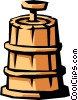 Vector Clip Art graphic  of a butter churn