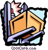 Vector Clipart illustration  of a forklift