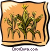 Vector Clip Art picture  of a Corn field