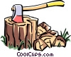 Vector Clipart image  of an axe