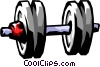 Vector Clip Art graphic  of a dumbbell