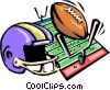 concept football Vector Clipart picture