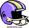 football helmet Vector Clipart illustration