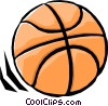 Vector Clip Art graphic  of a Rolling basketball