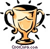 Vector Clip Art graphic  of a trophy/cup