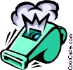 Vector Clip Art graphic  of a whistle
