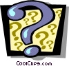 Vector Clipart illustration  of a Question mark