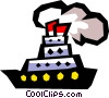 Vector Clipart picture  of a steamboat