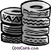 Vector Clipart illustration  of a tires