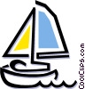 Vector Clipart image  of a sailboat