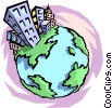 Vector Clipart picture  of a World globe
