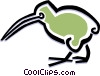 bird kiwi bird Vector Clipart graphic