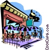 Vector Clipart graphic  of a outdoor cafe