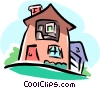 non-realistic house Vector Clipart illustration