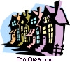 Vector Clip Art image  of a houses