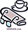 coffee cup with morning newspaper Vector Clip Art image