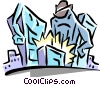Vector Clip Art picture  of a city caricature