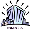 Vector Clipart image  of a buildings