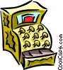 cash register Vector Clipart graphic