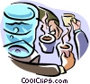 cooler/morning coffee Vector Clip Art image