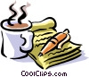 coffee at the start of a business day Vector Clip Art image