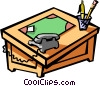 office desk Vector Clipart illustration