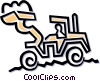 Front end loader Vector Clipart illustration