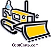 Vector Clip Art image  of a Man driving bulldozer