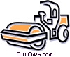 Vector Clipart graphic  of a Steam roller
