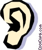 Vector Clip Art graphic  of a ear