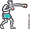 Boxer sparring Vector Clipart graphic