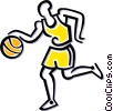 basketball player Vector Clip Art image