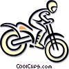 Vector Clip Art graphic  of a motocross