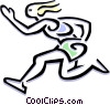 Vector Clipart graphic  of a runner