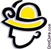 Vector Clip Art image  of a hard hat
