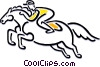 horseracing Vector Clipart graphic