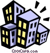 Vector Clip Art picture  of a buildings