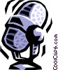 Vector Clip Art image  of a microphone