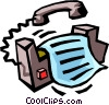 fax machine Vector Clip Art picture