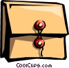 Vector Clipart graphic  of a file folder