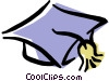 graduate's cap Vector Clip Art graphic