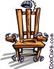Vector Clipart picture  of a electric chair