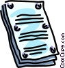 Vector Clip Art image  of a office legal document binding