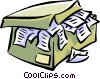 personal financial records and receipts Vector Clipart image