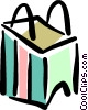 Vector Clipart picture  of a shopping bag
