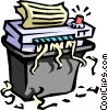 Vector Clipart image  of a office paper shredder